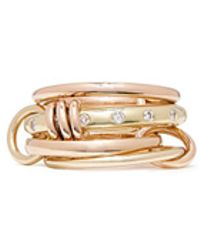 Spinelli Kilcollin - 'lyra Gold' Diamond 18k Gold Four Link Ring - Lyst