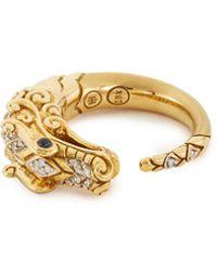 John Hardy - 'legends Naga' Diamond Sapphire 18k Yellow Gold Ring - Lyst
