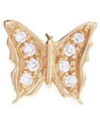 Loquet London | Diamond 18k Yellow Gold 'butterfly' Charm – Beauty | Lyst