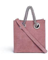 Alexander Wang - 'genesis' Interlocking Chain Handle Suede Shopper Tote - Lyst