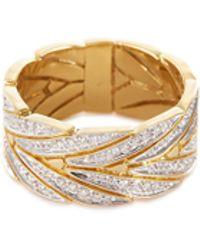 John Hardy - 'modern Chain' Diamond 18k Yellow Gold Ring - Lyst
