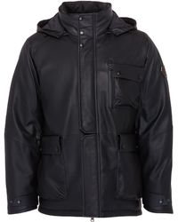 Trickcoo - Detachable hood leather down unisex jacket - Lyst