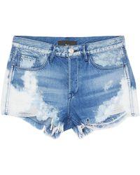 3x1 - 'w2 Mason' Bleached Ripped Denim Shorts - Lyst
