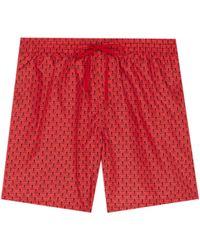 10ca237547 Farfetch. Fendi - 'bag Bugs' Print Swim Shorts - Lyst