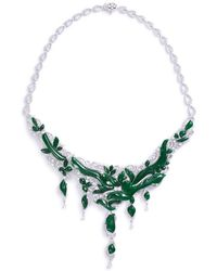 LC COLLECTION - Diamond Jade 18k Gold Vine Necklace - Lyst