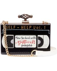 Cecilia Ma - 'vhs' Patch Acrylic Box Clutch - Lyst