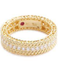 Roberto Coin - 'princess' Diamond 18k Yellow Gold Ring - Lyst