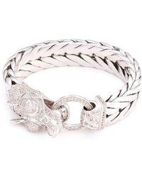 John Hardy - Sapphire Silver Naga Weave Effect Chain Bracelet - Lyst