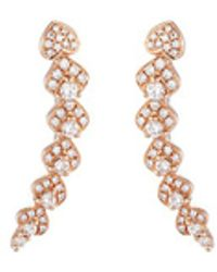 LC COLLECTION - 'lucky Charm' Diamond 18k Rose Gold Earrings - Lyst