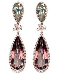 Anabela Chan - 'papillon' Diamond Tourmaline 18k Gold Detachable Drop Earrings - Lyst