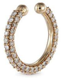 Lynn Ban - 'pave Orbital Hoop' Diamond 14k Yellow Gold Single Ear Cuff - Lyst