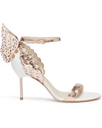 Sophia Webster - 'evangeline' Angel Wing Appliqué Leather Sandals - Lyst