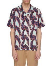 You As - Miles Leaf Print Shirt - Lyst