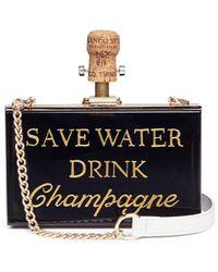 Cecilia Ma   'save Water' Acrylic Box Clutch   Lyst