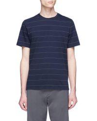 Theory - Pinstripe Pima Cotton T-shirt - Lyst