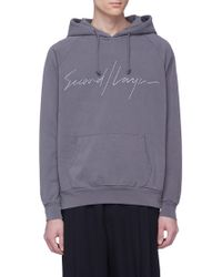 Second/Layer - Logo Embroidered Hoodie - Lyst