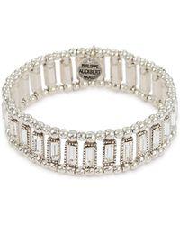 Philippe Audibert - 'titia' Swarovski Crystal Bead Elastic Bracelet - Lyst