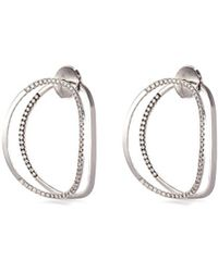 Delfina Delettrez - 'little Earclipse' Diamond 18k White Gold Earrings - Lyst