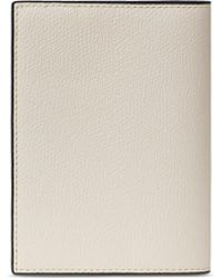 Valextra - Leather Passport Holder – White - Lyst