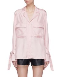 Tibi - Buckled Cuff Epaulette Notched Lapel Shirt Jacket - Lyst