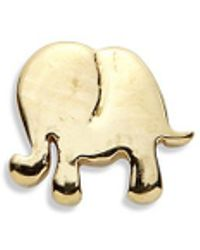 Loquet London - 18k Yellow Gold Elephant Charm - Happiness - Lyst