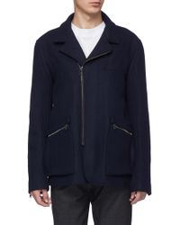 Wooyoungmi - Zip Cuff Melton Shirt Jacket - Lyst