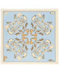 Cjw - 'winter Animals Mini' Graphic Print Wool Scarf - Lyst