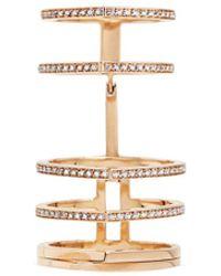 Repossi - 'antifer' Diamond Pavé 18k Rose Gold Six Row Linked Ring - Lyst