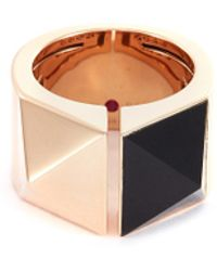 Roberto Coin - 'sauvage Privé' Jade 18k Rose Gold Ring - Lyst