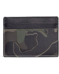 Valentino - Camouflage Print Leather And Canvas Cardholder - Lyst