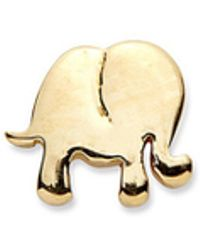 Loquet London - 14k Yellow Gold Elephant Single Earring - Happiness - Lyst