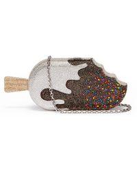 Judith Leiber - Chocolate Drip Popsicle Crystal Pavé Minaudière - Lyst