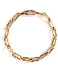 Loquet London - 14k Yellow Gold Chain Link Bracelet - Large - Lyst