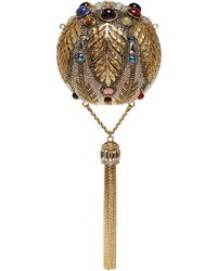 Judith Leiber - 'pax Sphere' Crystal Tassel Clutch - Lyst