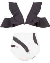 Zimmermann - 'painted Heart Flutter' Colourblock Bikini Set - Lyst