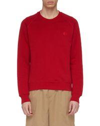 Acne Studios Slogan Print Raglan Sweatshirt - Red
