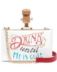 Cecilia Ma - 'drink Until He Is Cute' Acrylic Box Clutch - Lyst