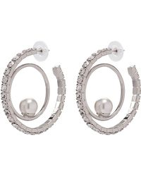 Joomi Lim - 'saturn Stunner' Swarovski Crystal Pearl Double Hoop Earrings - Lyst
