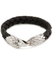 John Hardy - Chalecedony Eagle Braided Leather Bracelet - Lyst