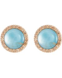 Roberto Coin - 'cocktail' Diamond Agate Chalcedony 18k Rose Gold Earrings - Lyst