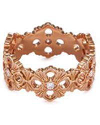 Buccellati   'opera' Diamond 18k Rose Gold Ring   Lyst