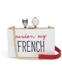 Cecilia Ma - 'french' Bulldog Faux Pearl Charm Acrylic Box Clutch - Lyst