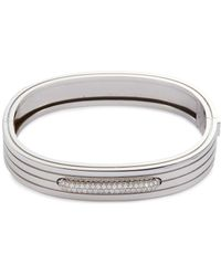 Roberto Coin - 'portofino' Diamond 18k White Gold Bangle - Lyst