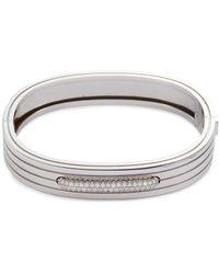 Roberto Coin - 'portofino' Diamond 18k White Gold Bangle - Lyst