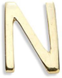 Loquet London | 18k Yellow Gold Letter Charm - N | Lyst