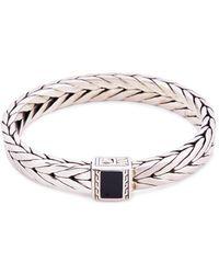 John Hardy - Onyx Silver Weave Effect Link Chain Bracelet - Lyst