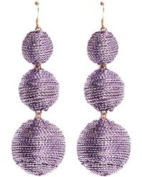 Kenneth Jay Lane - Threaded Sphere Drop Earrings - Lyst