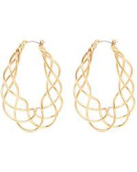 Kenneth Jay Lane - Braided Spiral Hoop Earrings - Lyst