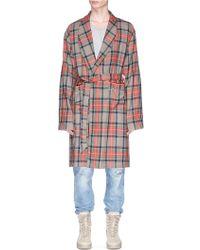 Fear Of God Tartan Plaid Wool Robe