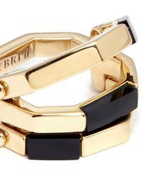 W. Britt - 'flip' Bar Convertible 18k Gold Onyx Ring - Lyst
